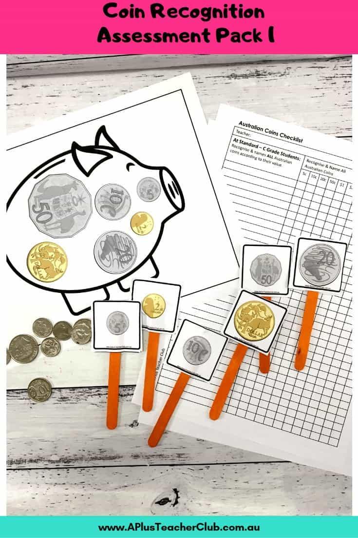 Australian Coins Assessment Kit Piggy bank theme