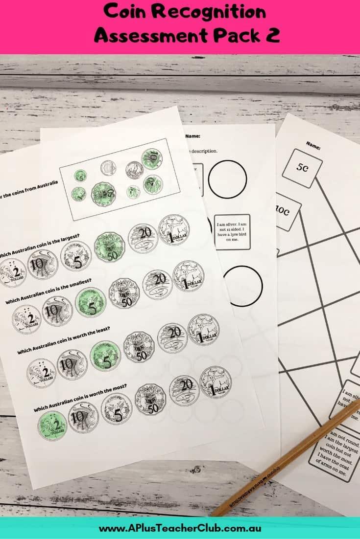 Assessment Kit For teaching Australian money