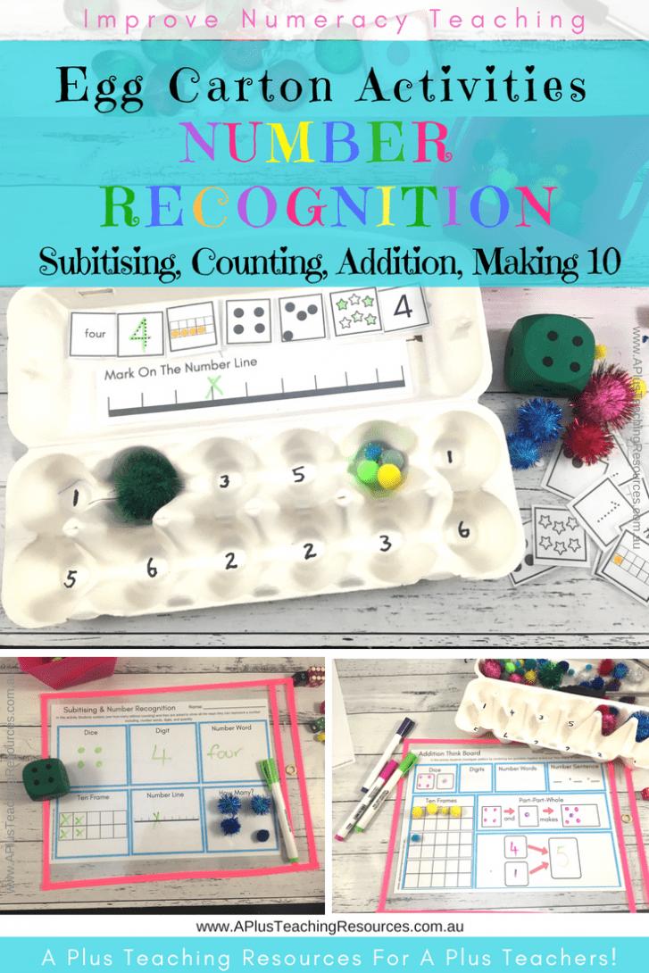 Egg Carton Math Activities Pack