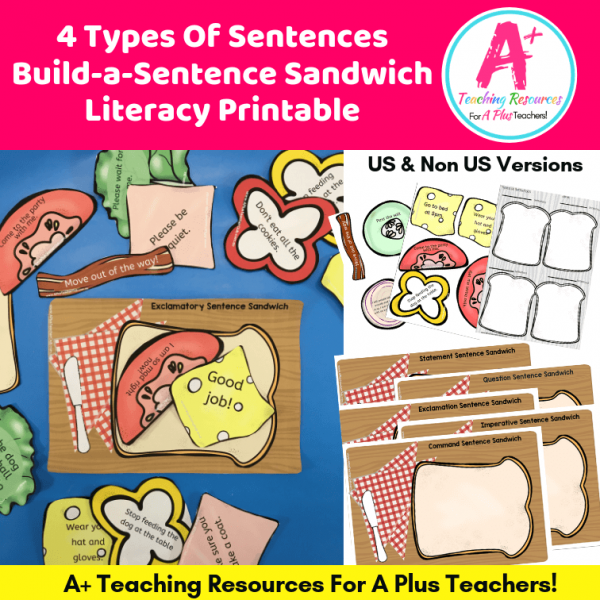 4 Types Of Sentences Printables product image