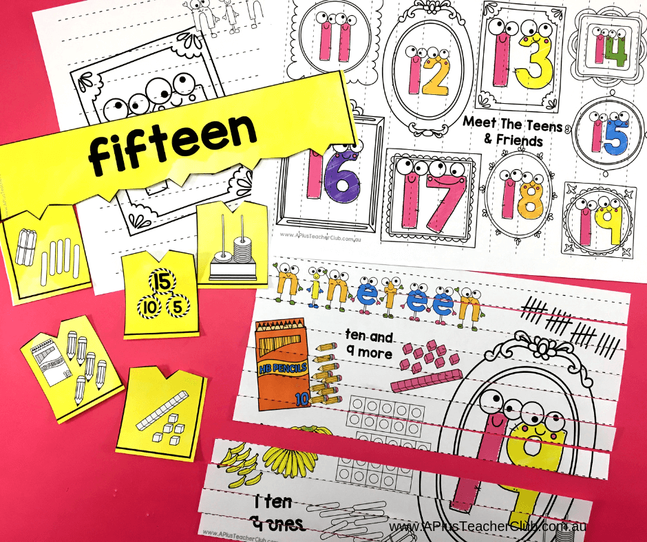 teen numbers 11-19 & Make your own pack product image