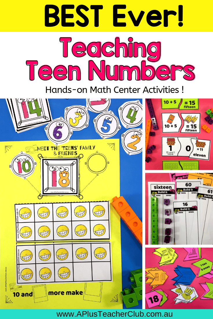Teen Number Boards (Teen and Ty)