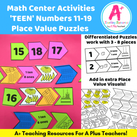 Teen Number Puzzles & Activities product image