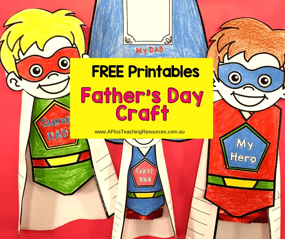 Easy To Make Father's Day Superhero Gift {Free Printable}