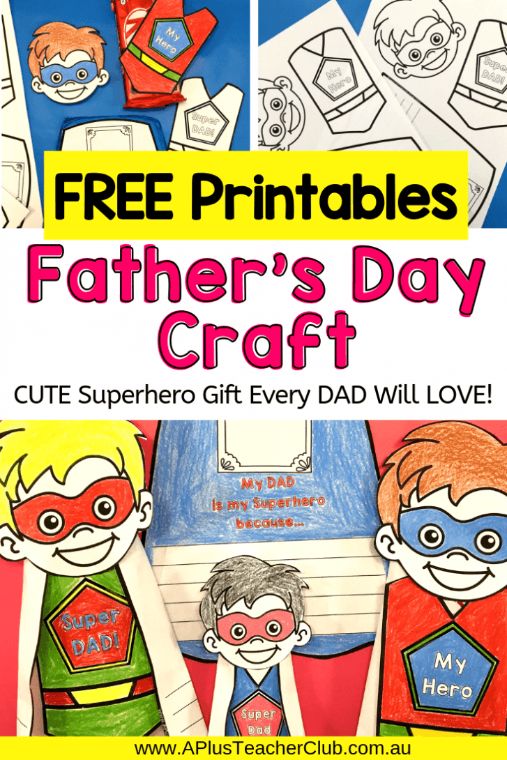 Father's Day Superhero Gift For Kids To Make