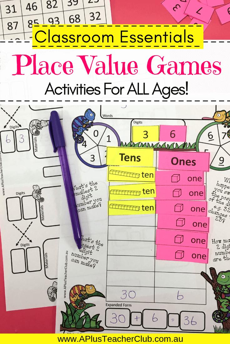 2 Digit Place Value Maths Games