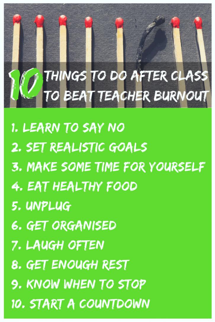 Avoid Burnout Checklist