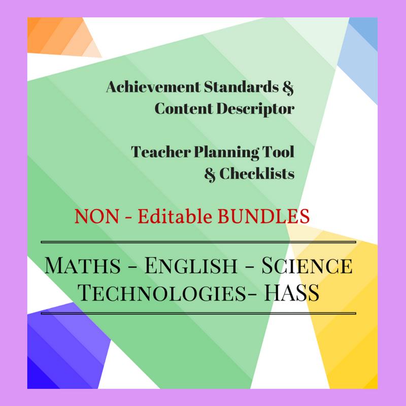 Non-Editable Checklists Bundle