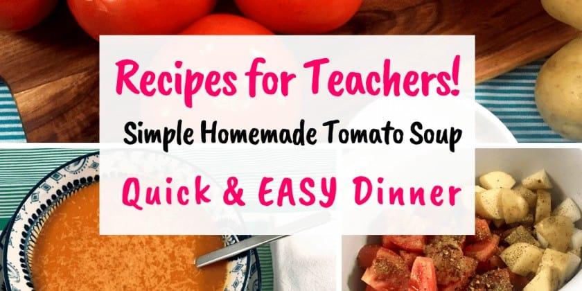 Simple Homemade Tomato Soup