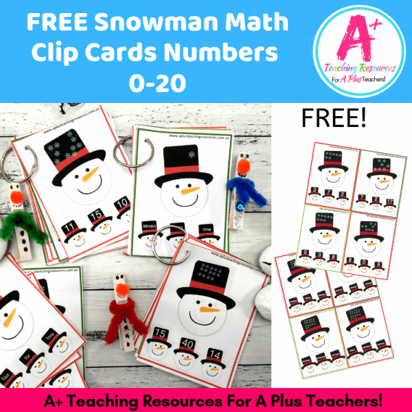 Image of snowman clip cards