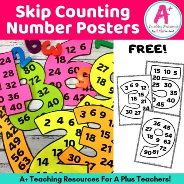 Image of FREE skip counting posters