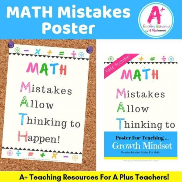Mistakes Posters Growth Mindset Product image