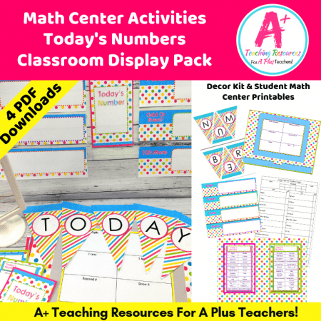 Image of teaching pack for teaching Today's Number