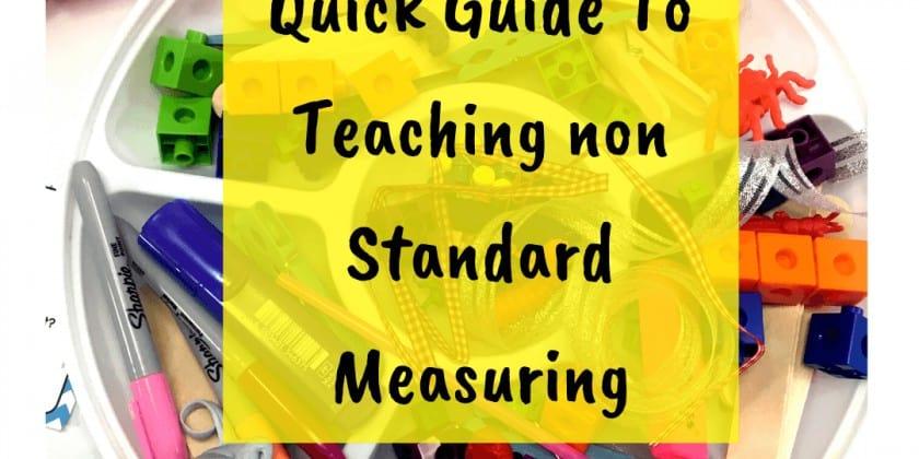 Non Standard Measurement Activities {Our Secret Weapon!}