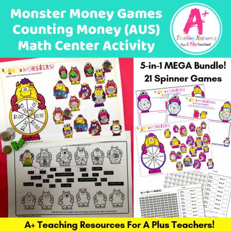 Monster Money Games Product Bundle Image For Australian Money