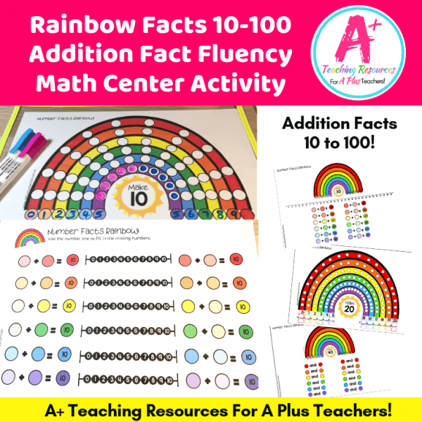 Rainbow Facts Write & Wipe Math Center