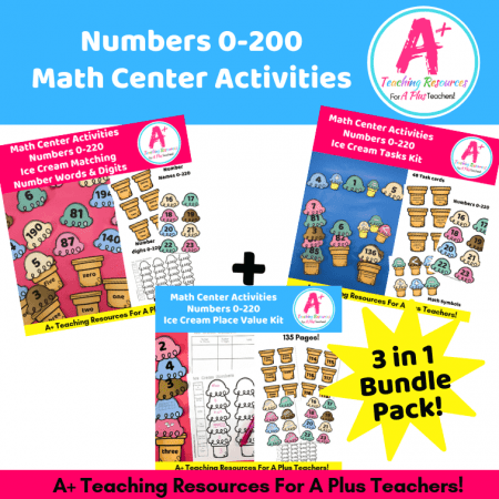 Ice cream Math Center Themed Numbers 0-200Product Image