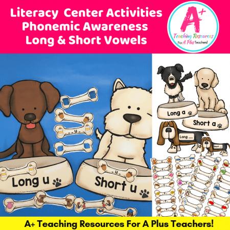 Image Long & Short Vowel Dogs Sorting Game