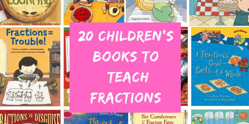 20 Children's Books To Teach Fractions {Fraction Made EASY!}