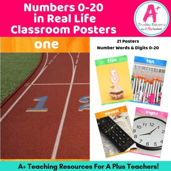 Numbers 0-20 in Real Life Classroom Posters Product Image