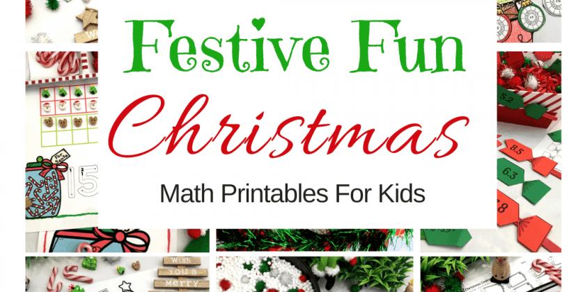 Festive Fun Christmas Math Games Printables {Jolly Good Fun!}
