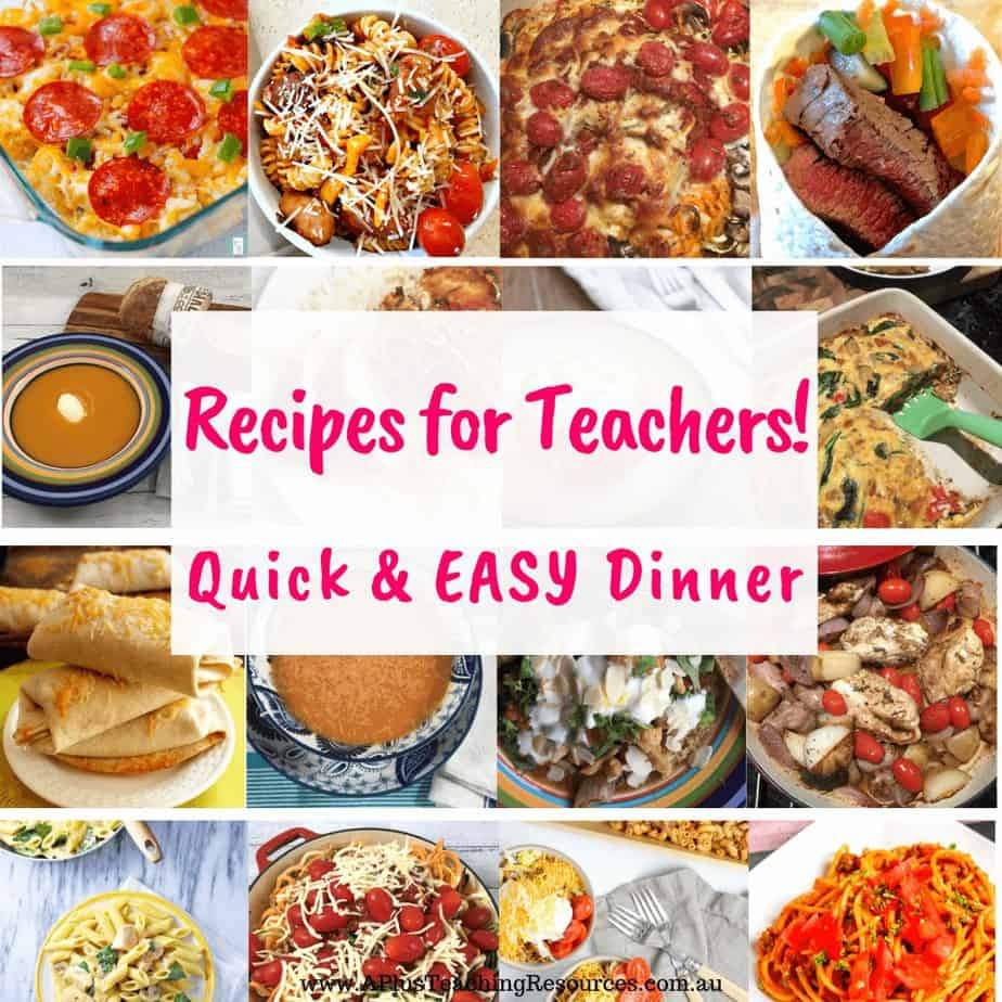 Easy Dinner Ideas For Teachers {Perfect For After School}