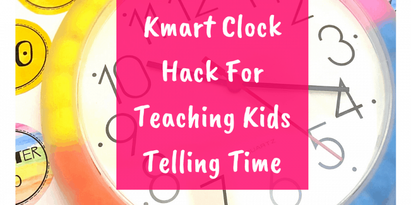 Fun DIY Classroom Clock {Kmart Hack}
