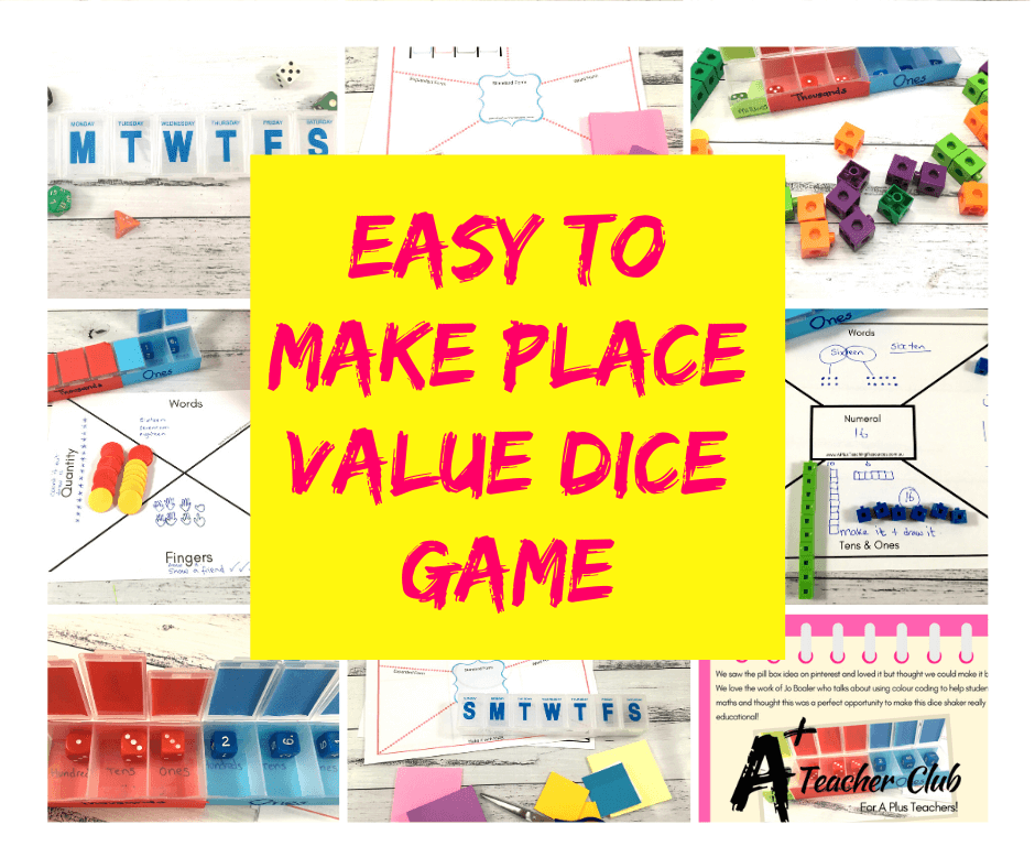 The Cleverest Place Value Dice Activity Ever: Your Kids Will Love it!