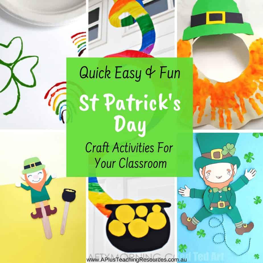 Saint Patrick's Day Activities For Kids {Classroom Fun}