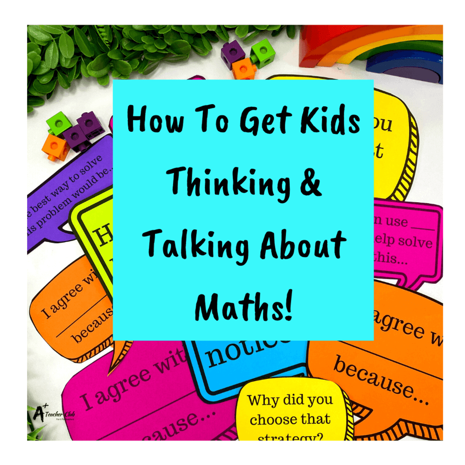 Thinking & Talking About Math {FREE Printables}