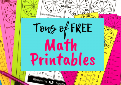 Must Have Free Maths Printables For Teachers