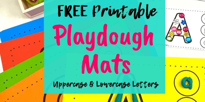 Free Letter Playdough Mats { Upper & Lower Case Matching}